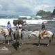 dance students horseback on beach