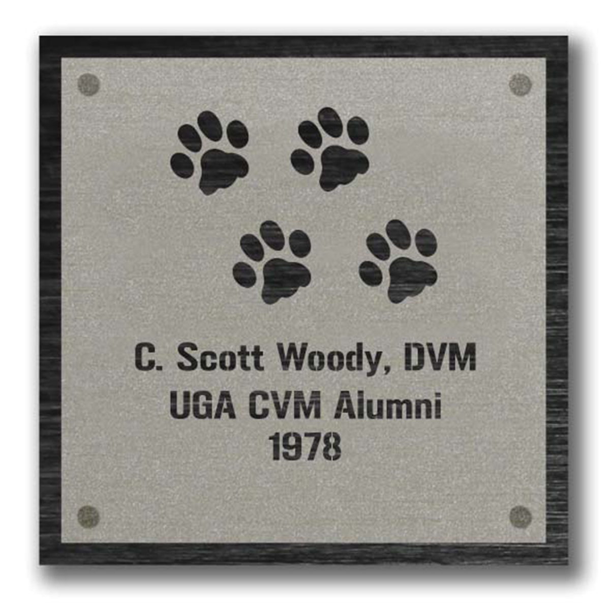 Cat Paw Plaque Graphic