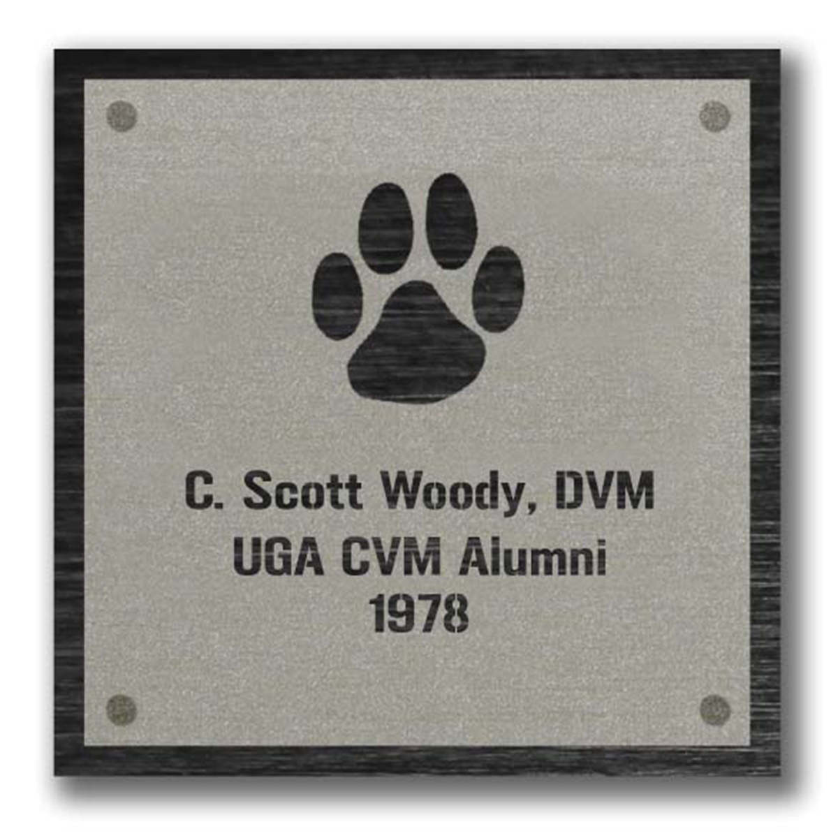 Dog Paw Plaque Graphic