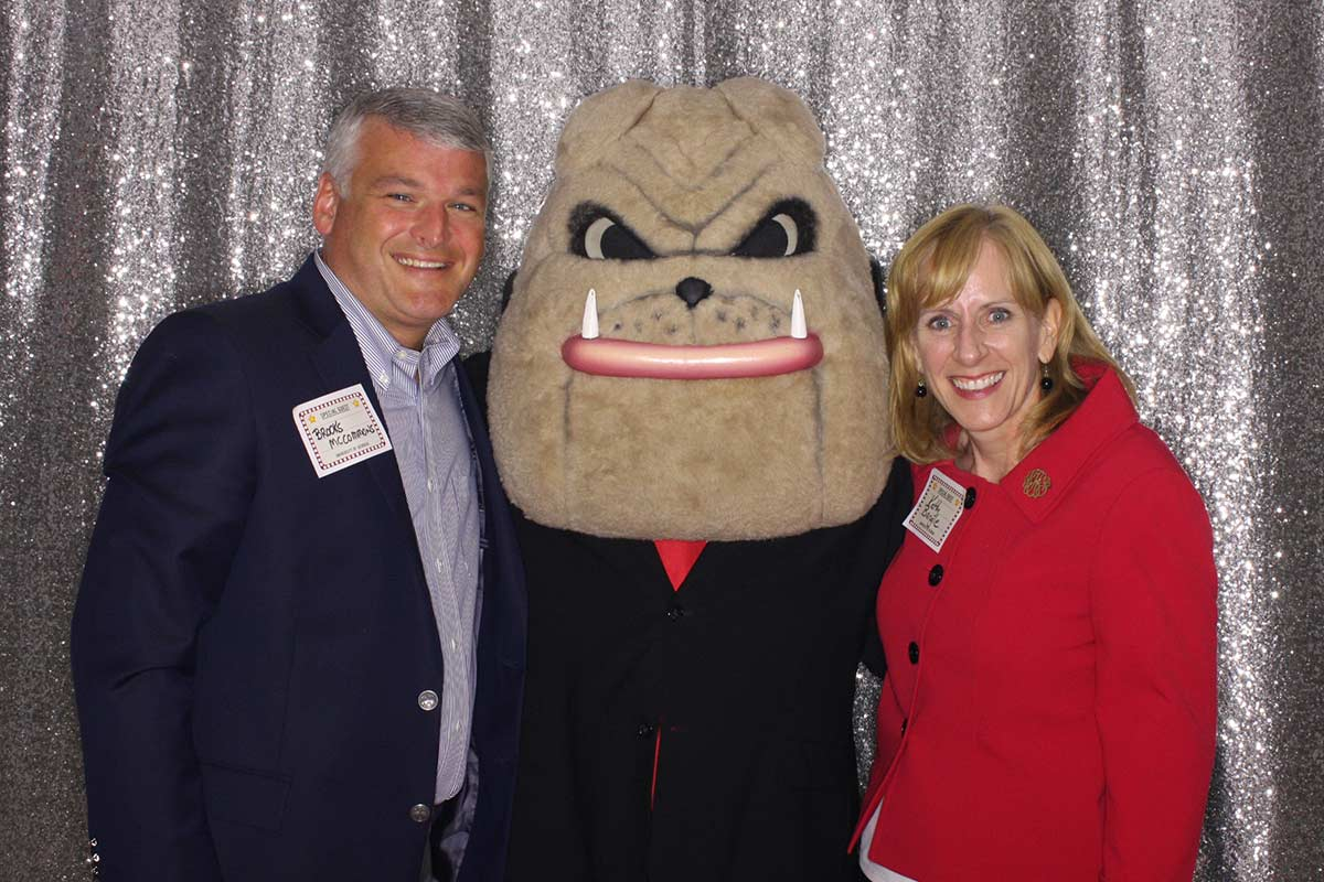 Brooks and Kathy with Hairy Dawg