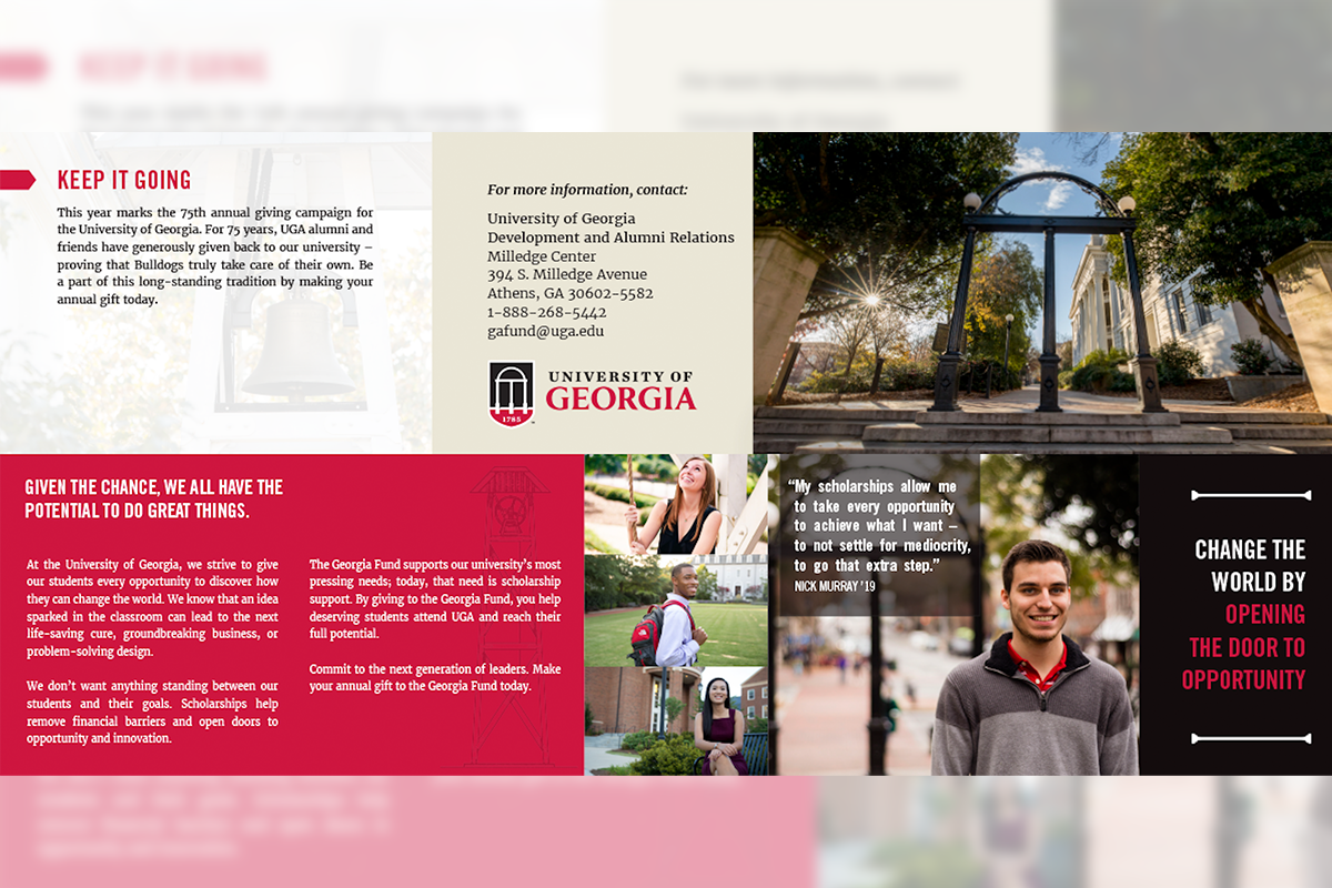 UGA Annual Giving Fall Direct Mailer