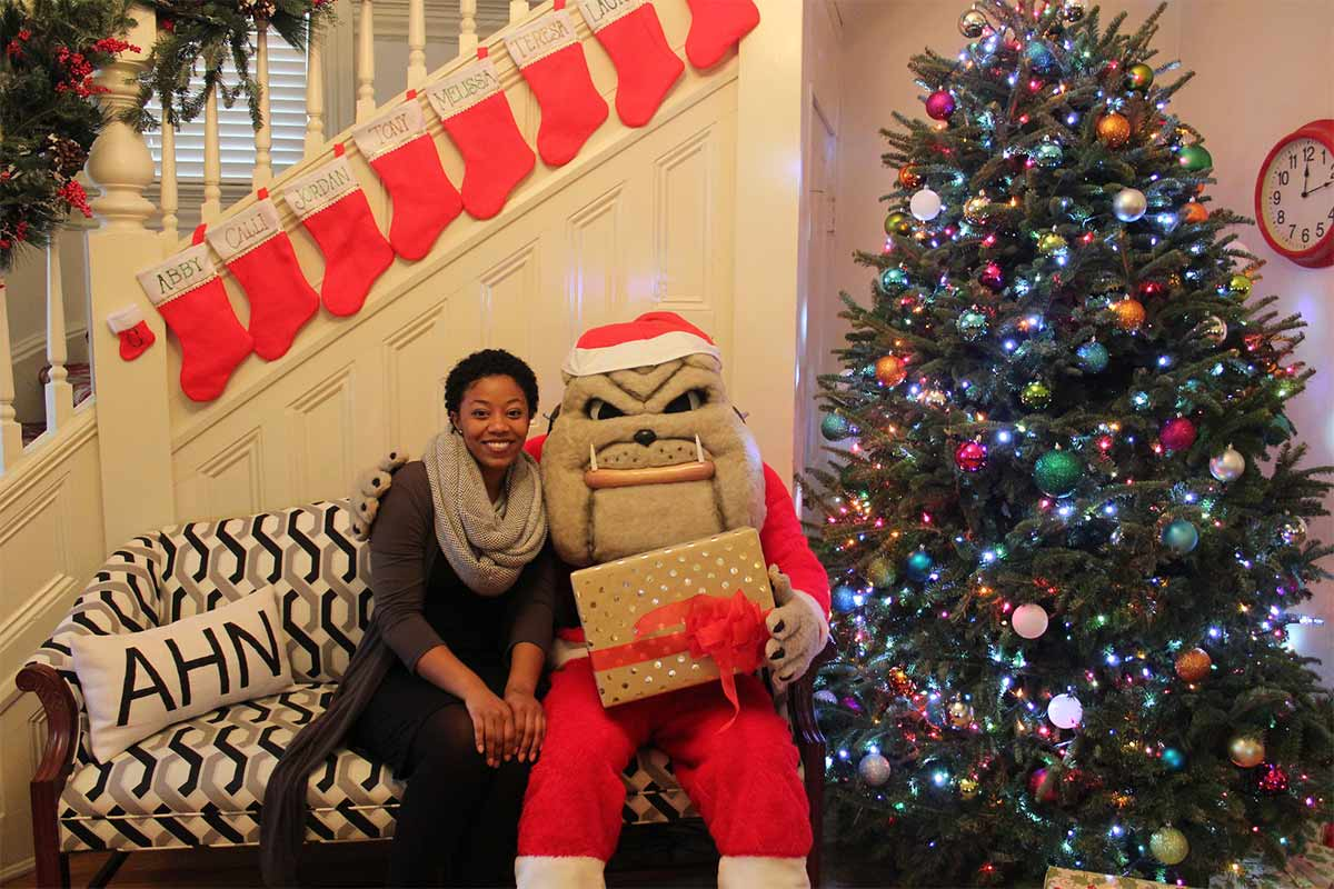 Kris and Hairy Dawg at Donor Relations Holiday Open House