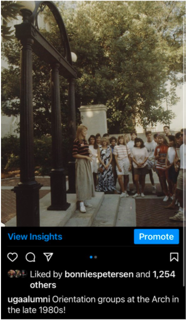 Orientation groups at the Arch in the late 1980s