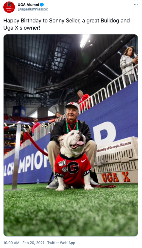 Sonny Seiler with UGA X