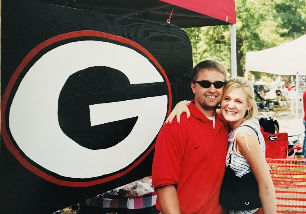 Stacy Stanford tailgating in college