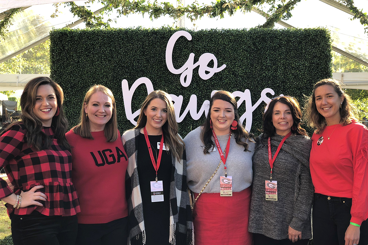 UGA Alumni Relations team at Auburn tailgate