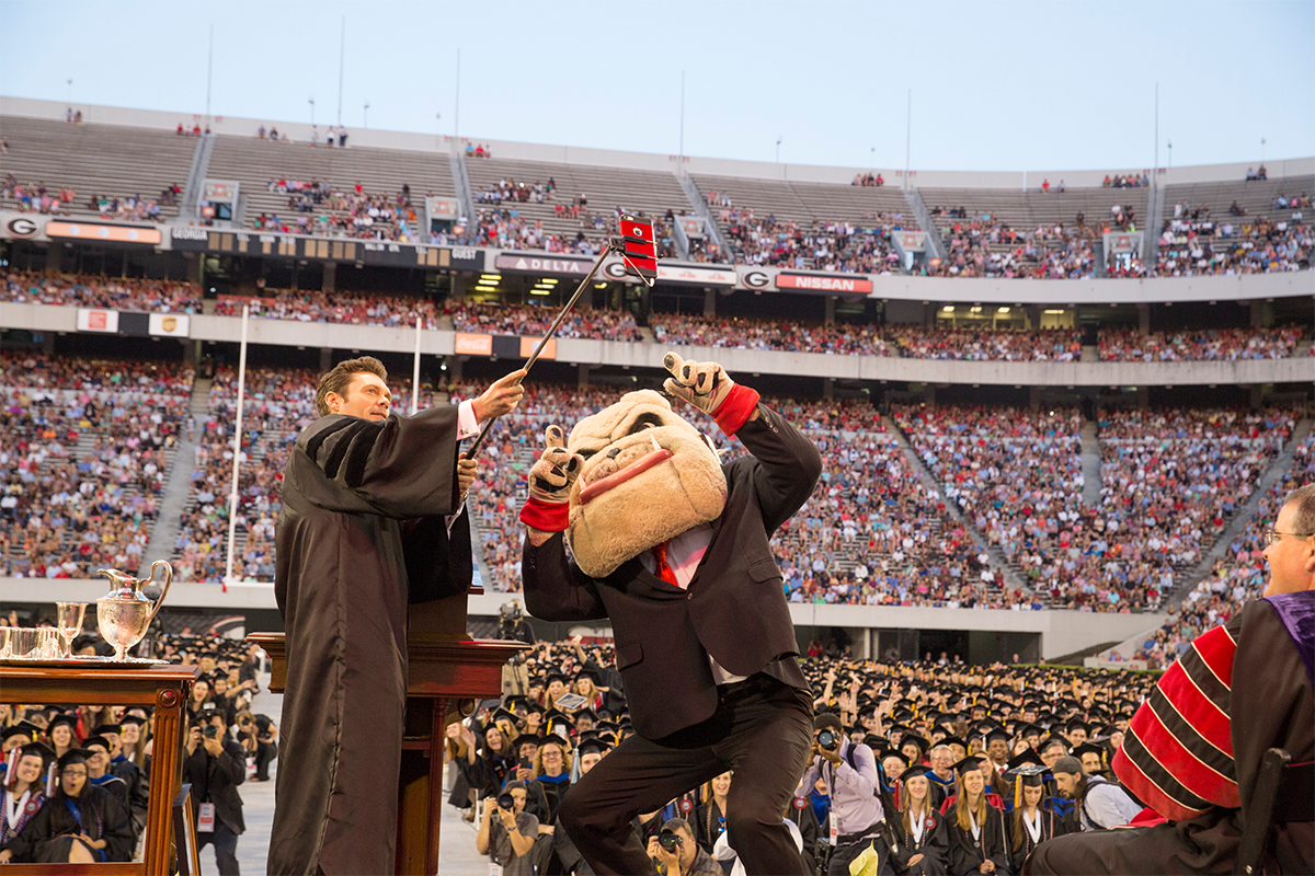 UGA Special Events Commencement with Hairy Dawg and Ryan Seacrest