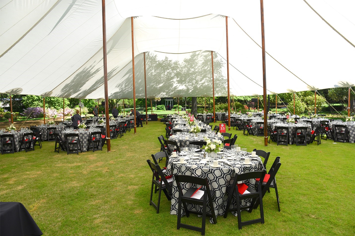 UGA Special Events tented reception