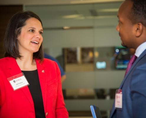 Jill Walton at Top Employers event