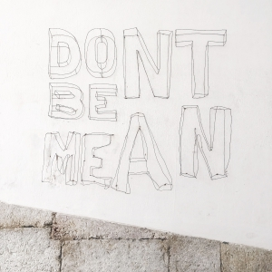 golden rule: don't be mean