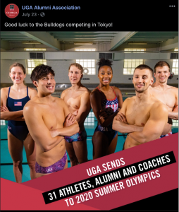UGA Olympic swimmers