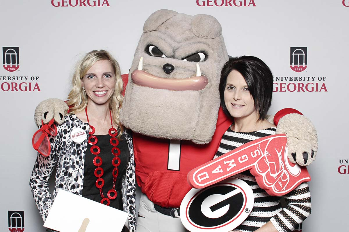 Emily and Scarlett at UGA Commit to Georgia Campaign Kickoff