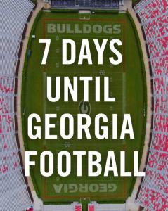 7 Days until Georgia Football