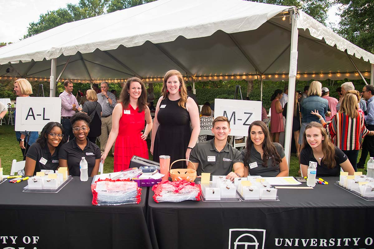 UGA students and staff at Parents Leadership Council Fall 2018 event